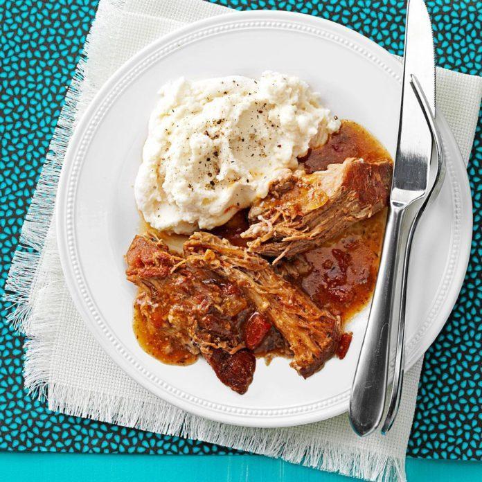 Pressure Cooker Savory Mustard Pork Roast