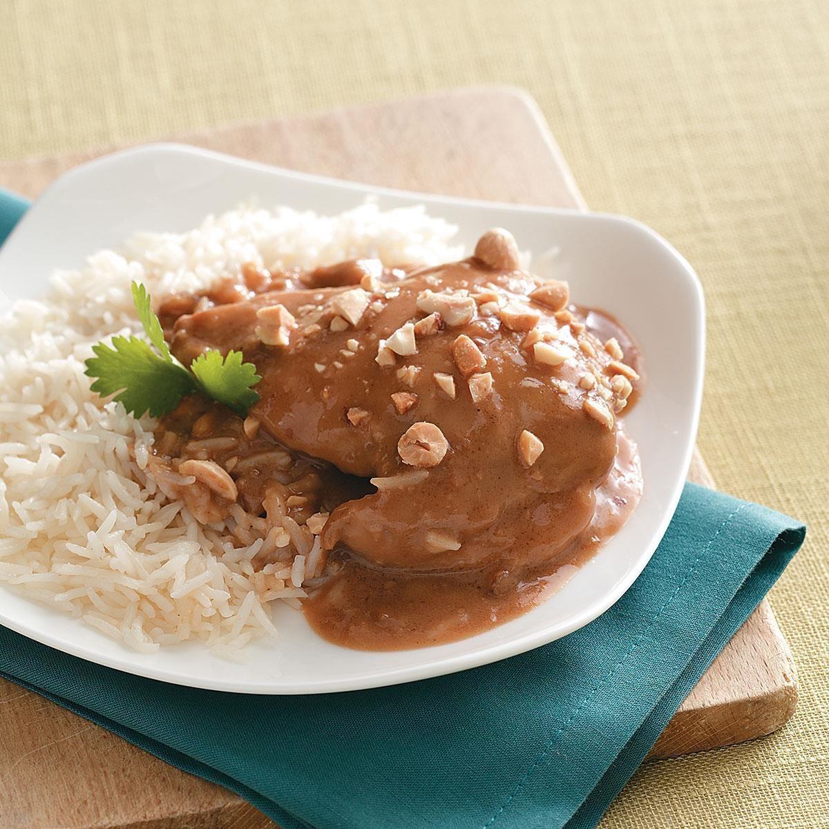 Pressure Cooker Thai Peanut Chicken