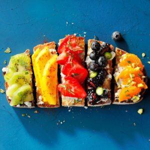 Rainbow Fruit Toast
