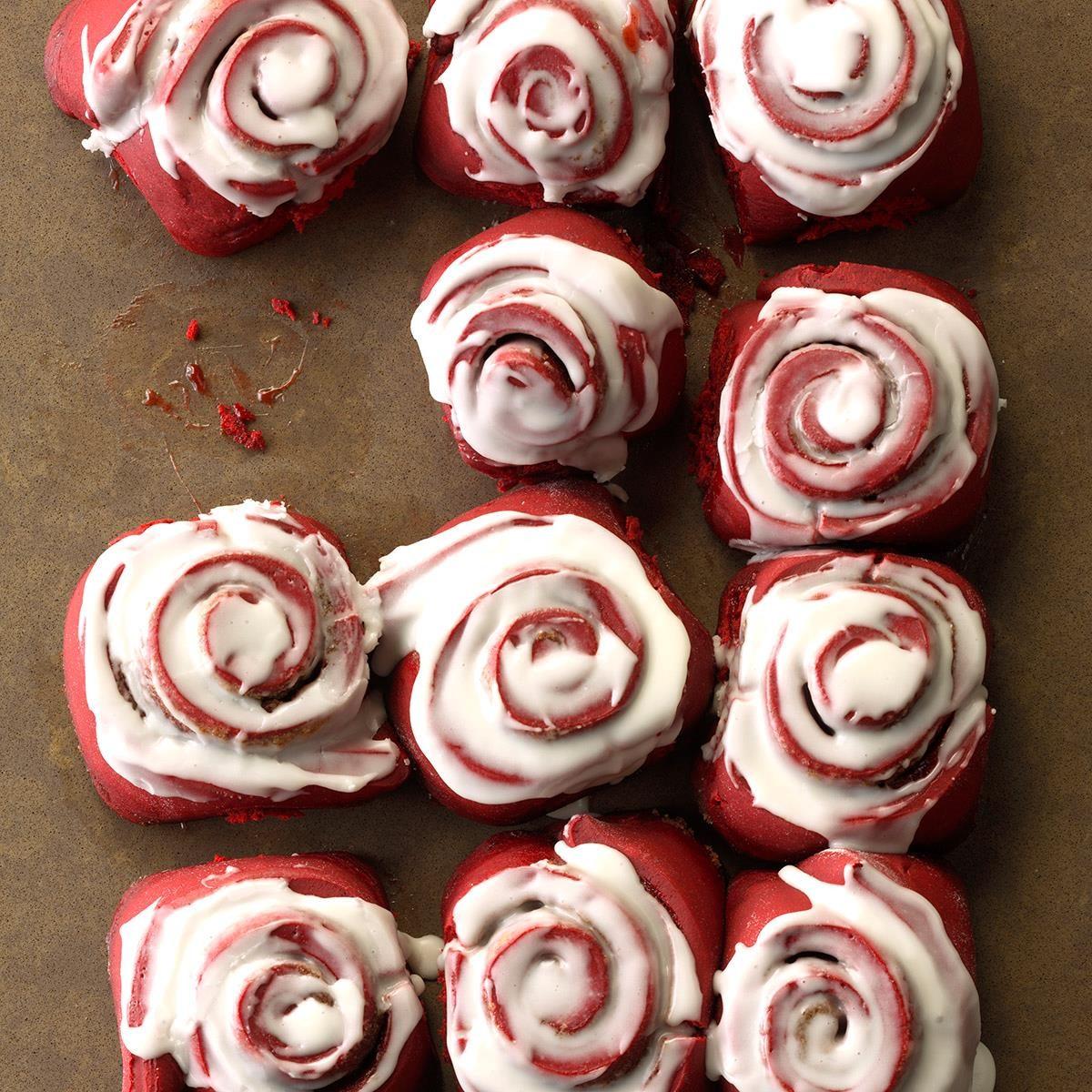 Red Velvet Cinnamon Rolls Recipe Taste Of Home