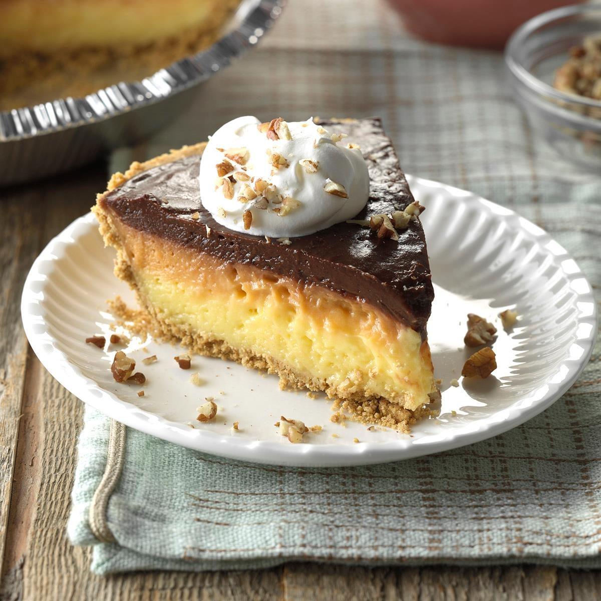 Ribbon Pudding Pie Recipe Taste Of Home