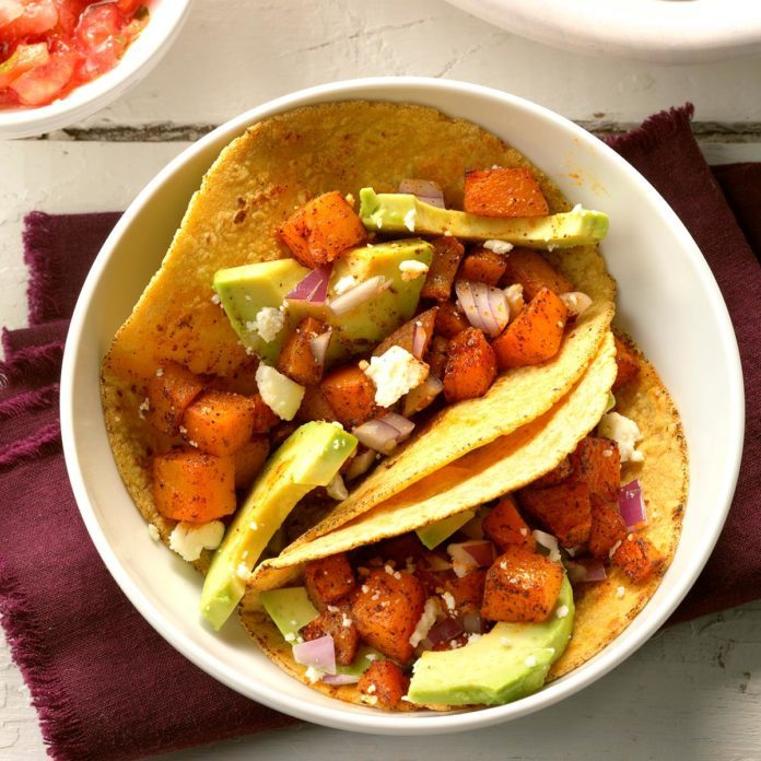 Roasted Butternut Squash Tacos