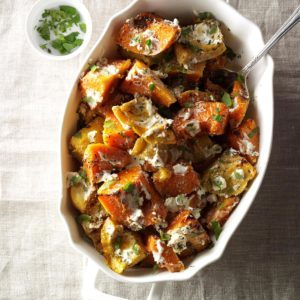 Roasted Herbed Squash with Goat Cheese