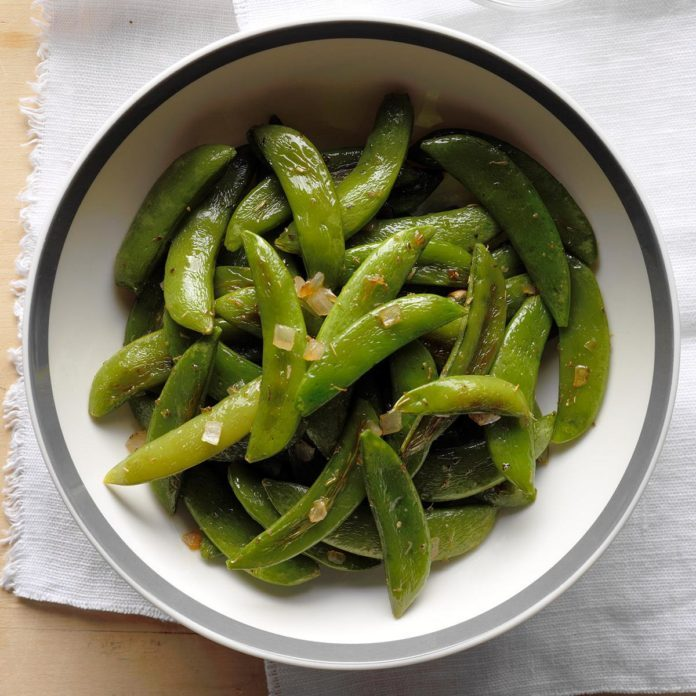 Non-Dairy Roasted Sugar Snap Peas