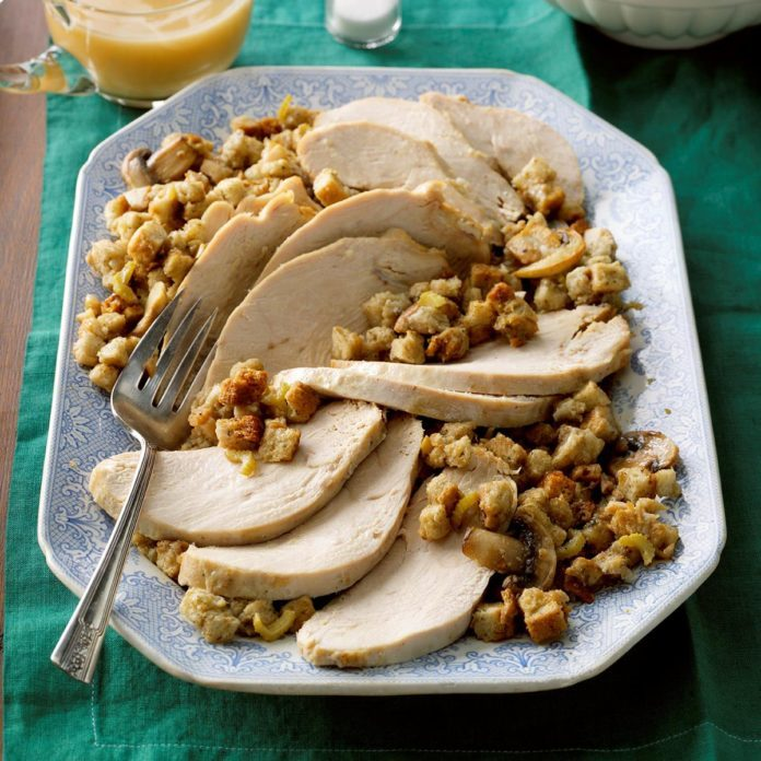 Slow Cooked Turkey with Herbed Stuffing