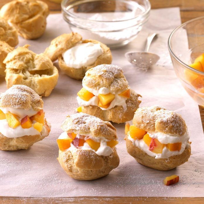 Spiced Peach Puffs