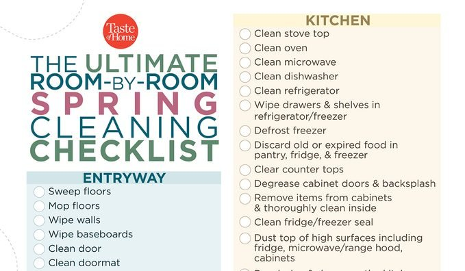 Spring Cleaning Checklist