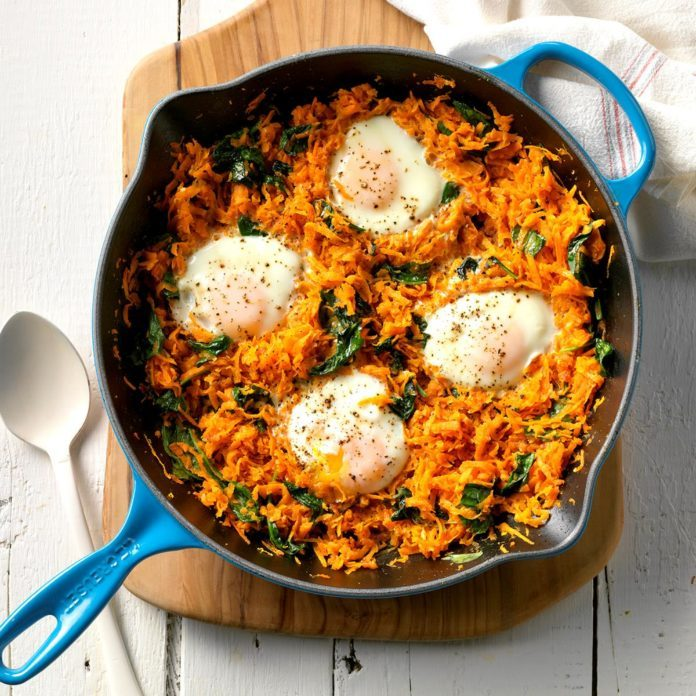 Sweet Potato and Egg Skillet
