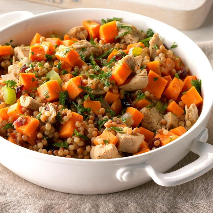 Sweet Potato and Turkey Couscous