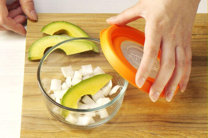 parsley onion tomato lemon with avocado gift idea Earrings bowl guacamole
