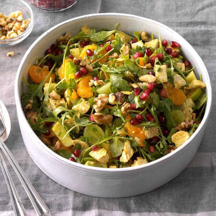 Turkey and Apple Arugula Salad