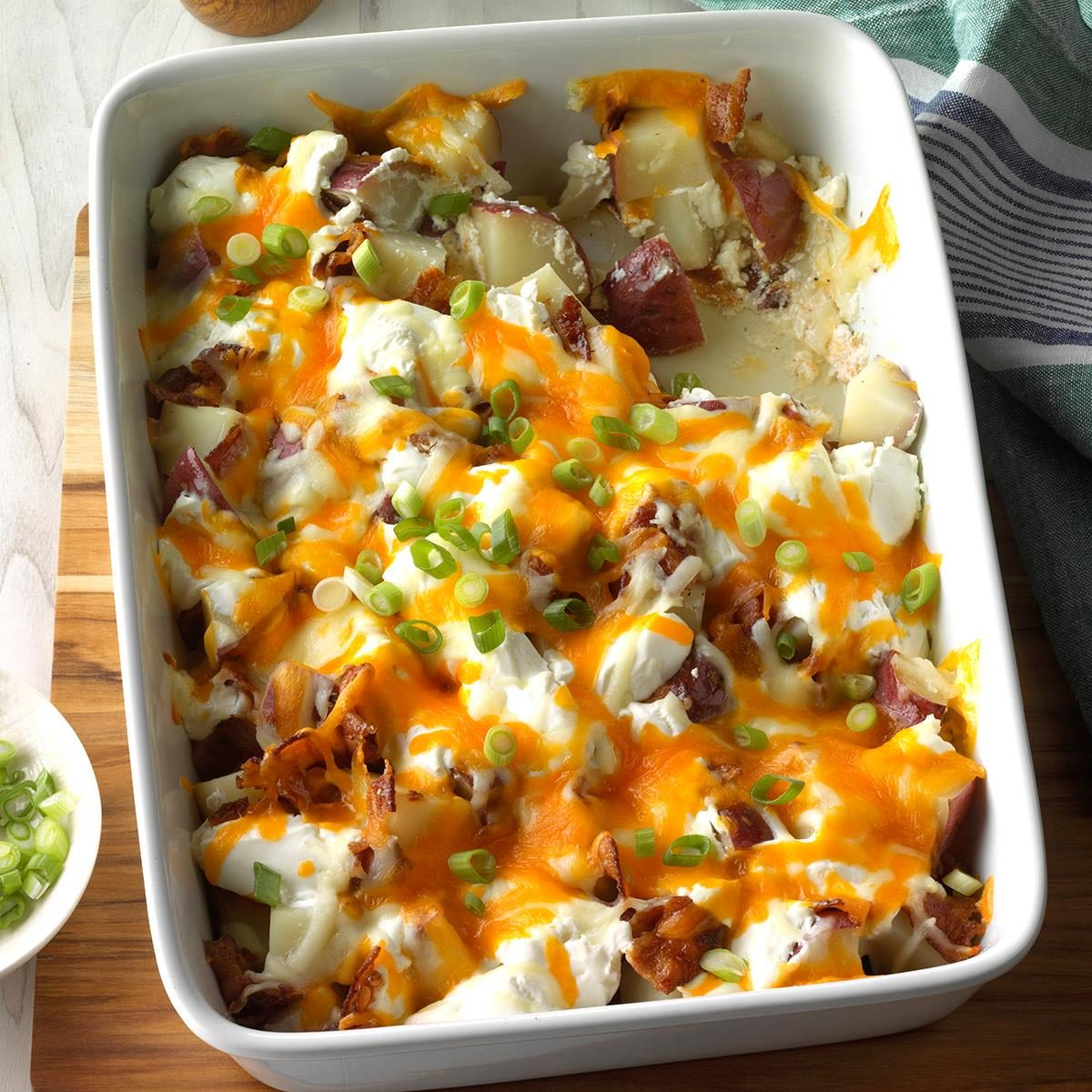 Twice-Baked Potato Casserole Recipe