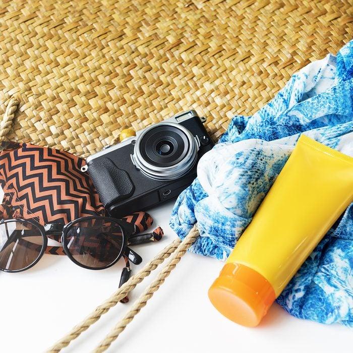 Sunblock Sunglasses Summer Bag Beach