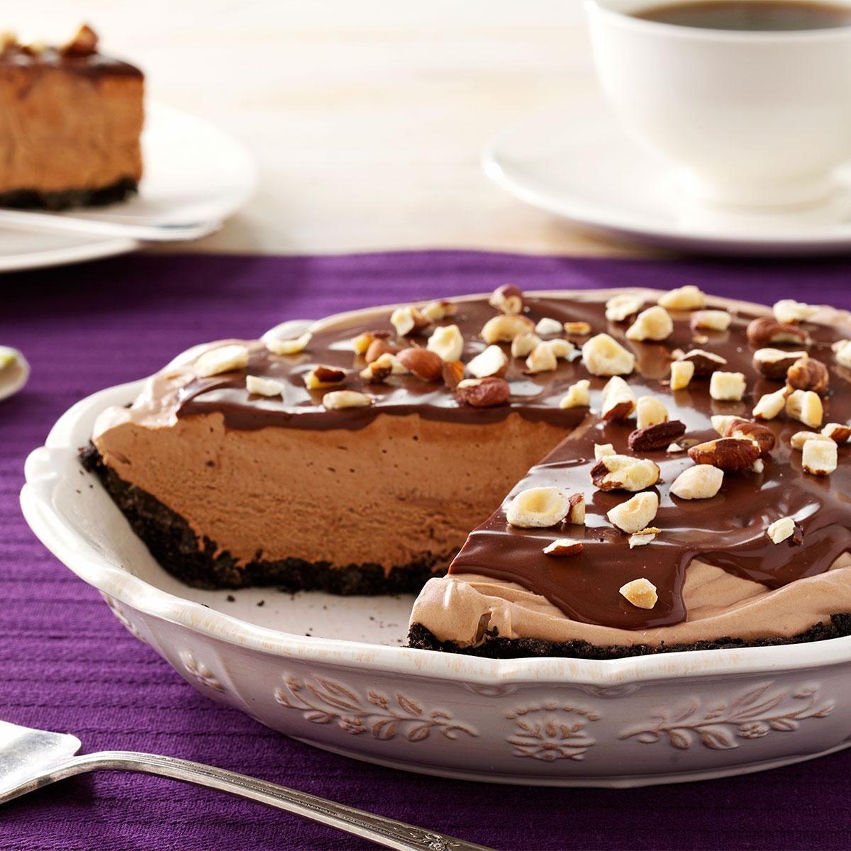 Chocolate-Hazelnut Cream Pie Recipe
