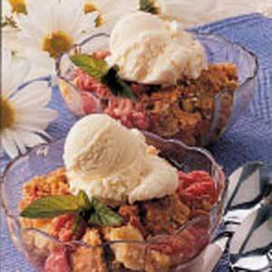 Easy Baked Rhubarb Dessert