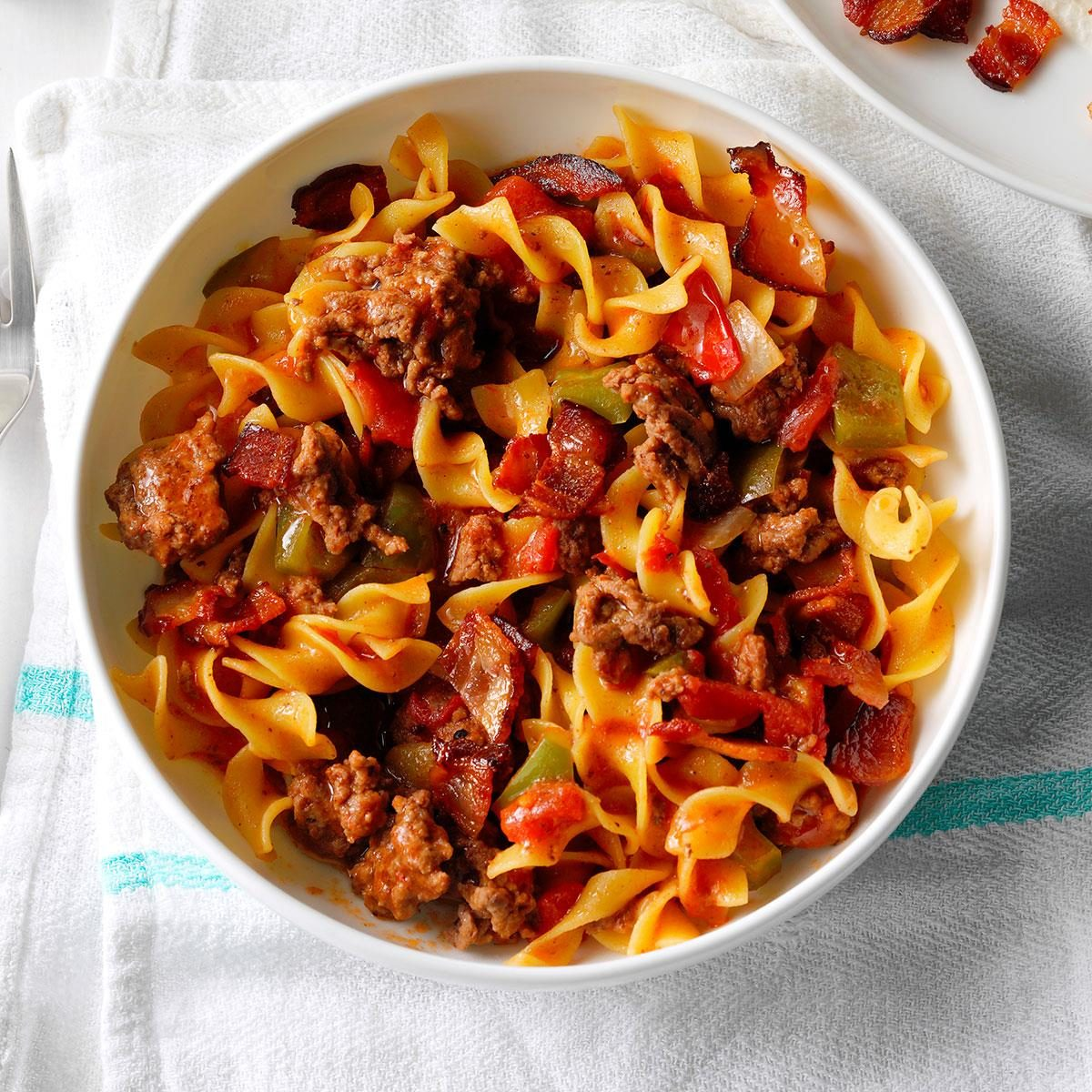 Spanish Noodles & Ground Beef Recipe