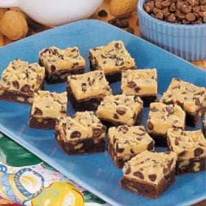 Two-Tone Fudge Brownies