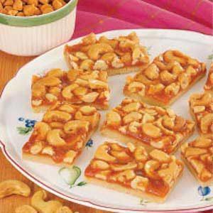 Butterscotch Cashew Bars