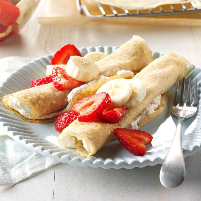 Strawberry Banana Crepes