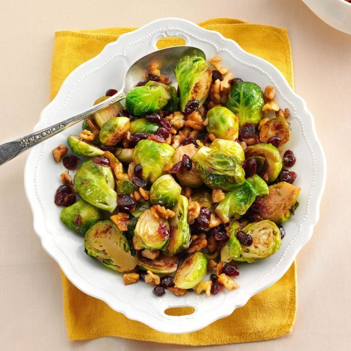 Cranberry-Walnut Brussels Sprouts