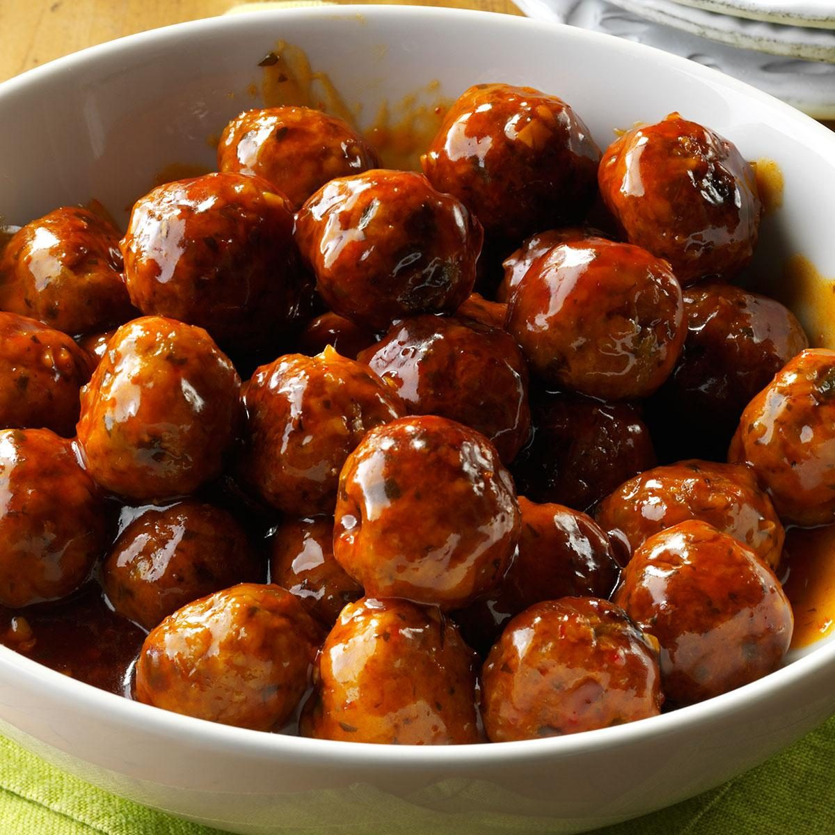 Sweet And Spicy Asian Meatballs Recipe Taste Of Home