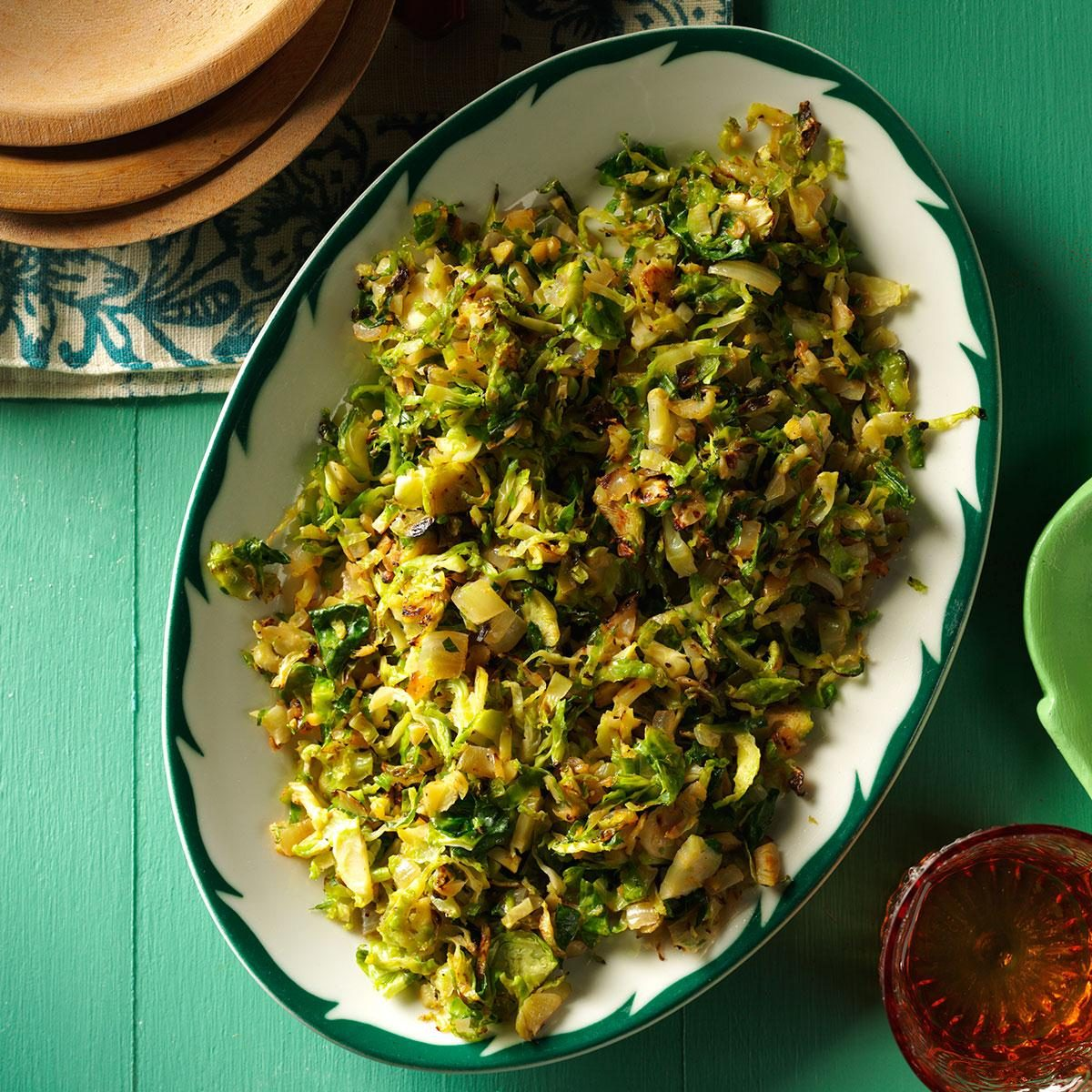 Shredded Gingered Brussels Sprouts Recipe