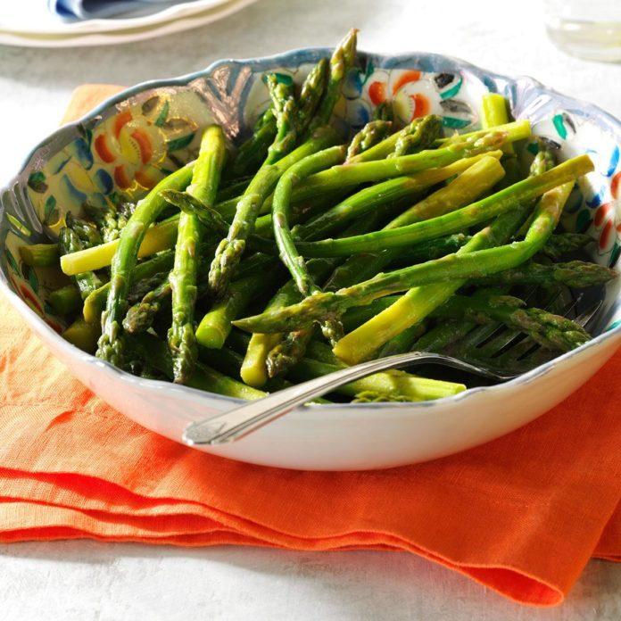 Veggie Lite Side Dish: Honey-Lemon Asparagus