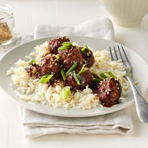 Easy Asian Glazed Meatballs