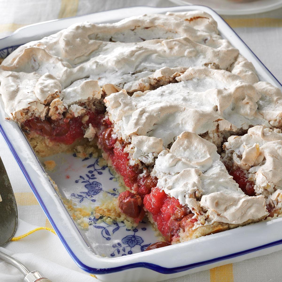 tart cherry meringue dessert recipe taste of home