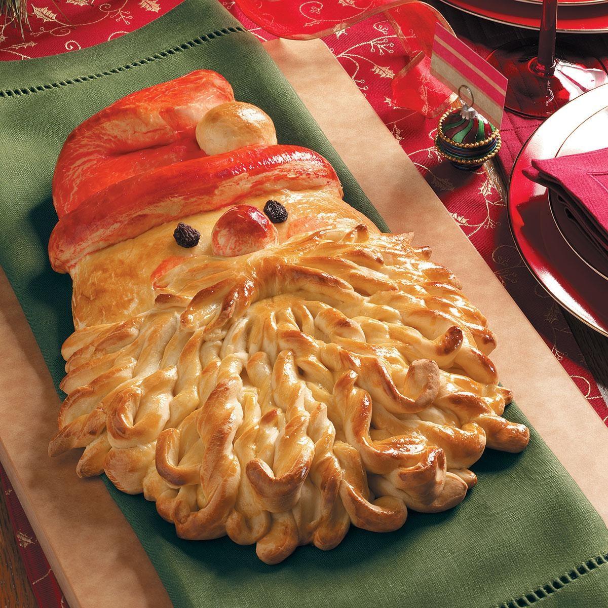 Christmas Bread.Golden Santa Bread