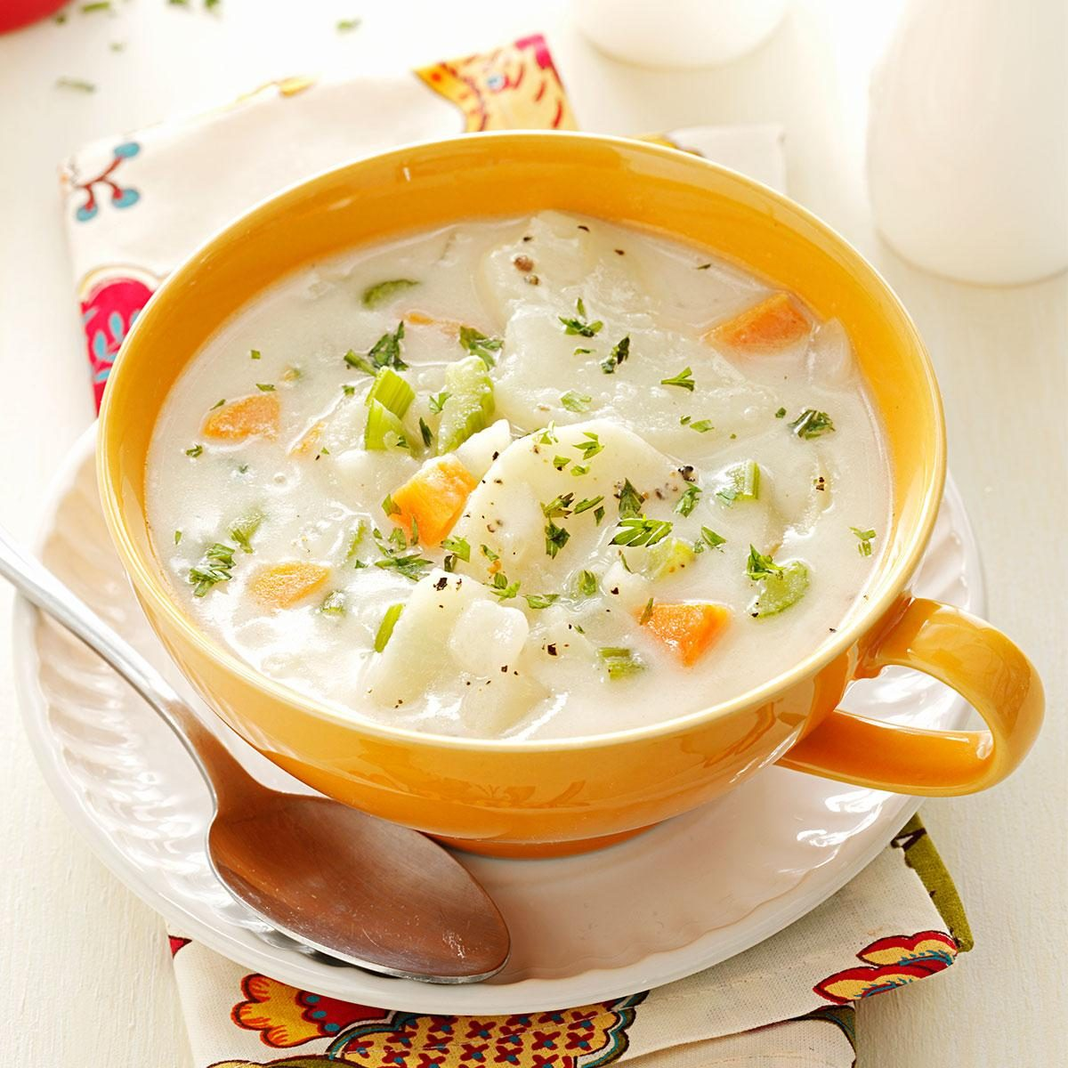 Recipe: Tasty Vegetarian Potato Soup