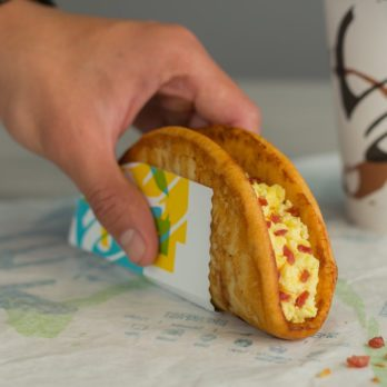Taco Bell's Newest Breakfast Innovation Features A French Toast 'Taco Shell'