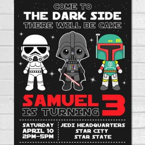 Star wars birthday party ideas taste of home party invitations filmwisefo