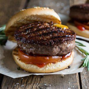 Hamburger with cheddar cheese