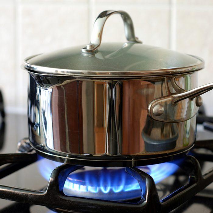 Pot on the gas stove; Shutterstock ID 28375165; Job (TFH, TOH, RD, BNB, CWM, CM): TOH