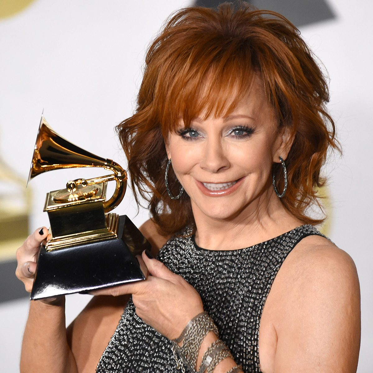 Mandatory Credit: Photo by MJ Photos/REX/Shutterstock (9336009ab) Reba McEntire 60th Annual Grammy Awards, Press Room, New York, USA - 28 Jan 2018