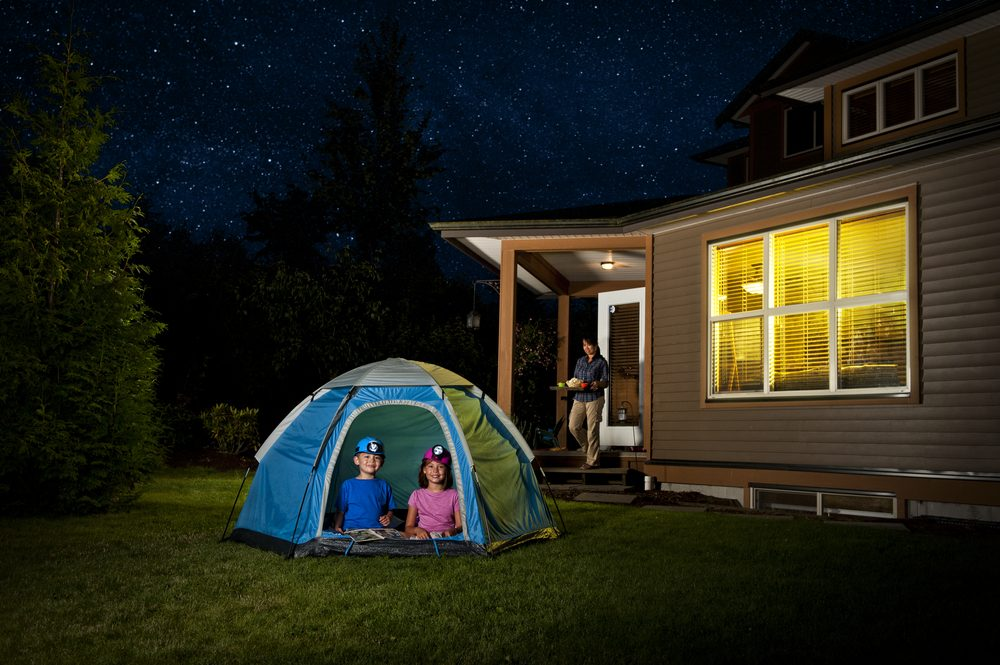 Image result for backyard camping
