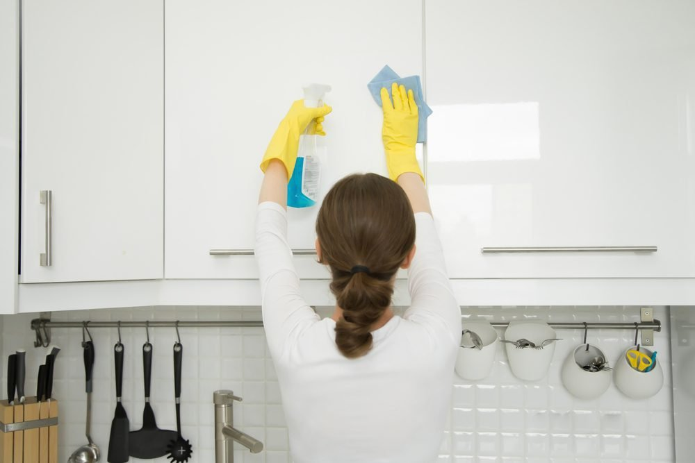 how to clean kitchen cabinet doors taste of home rh tasteofhome com easy to clean kitchen cabinet doors how to clean kitchen cabinet doors before painting