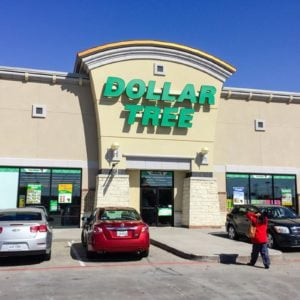 Customers enter Dollar Tree