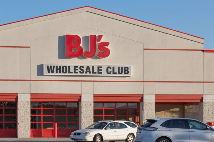 Philadelphia, Pennsylvania - October 24, 2017: BJ's is a membership only Wholesale Club with over 200 locations mainly on the East Coast of the USA.