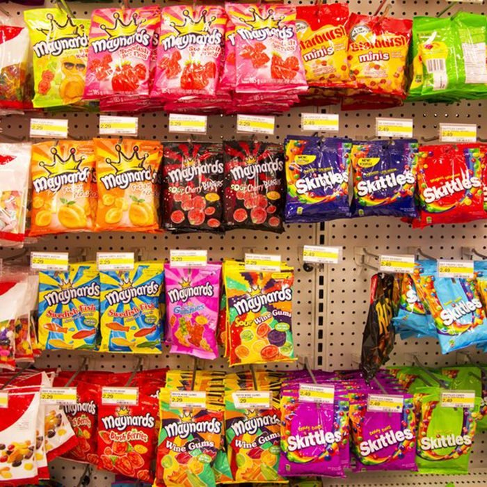 EDMONTON, AB, CANADA-March 23, 2014: Assorted candy is on display in a grocery store on March 23rd, 2014. ; Shutterstock ID 183315707