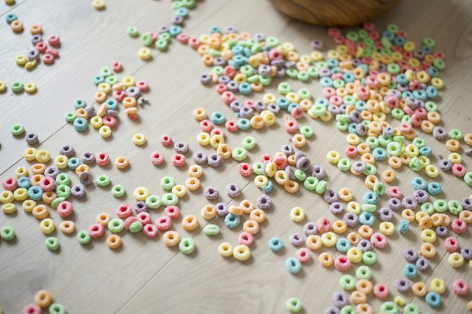 cereal on the floor