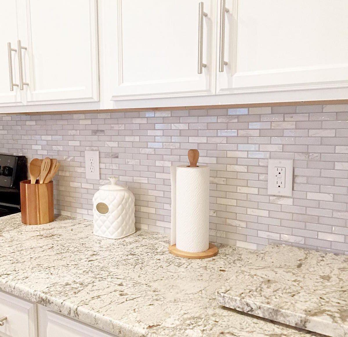 My Diy Peel And Stick Tile Backsplash Installation: 8 DIY Peel-and-Stick Kitchen Backsplash Ideas