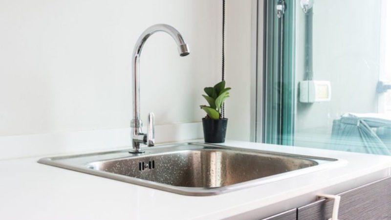 chrome kitchen sink