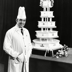 Mandatory Credit: Photo by Peter Kemp/AP/REX/Shutterstock (7371411a) The wedding cake - five feet high and weighing 255 pounds - made by the Royal Navy's Cookery School, HMS Pembroke, at Chatham, for the marriage of Prince Charles and Lady Diana Spencer. At left is the school's senior instructor, Chief Petty Office Cook Dave Avery, 37, who designed the cake Prince Charles and Princess Diana