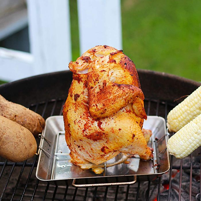 beer can chicken roaster rack grilling accessory