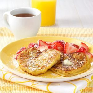 Almond French Toast Hearts