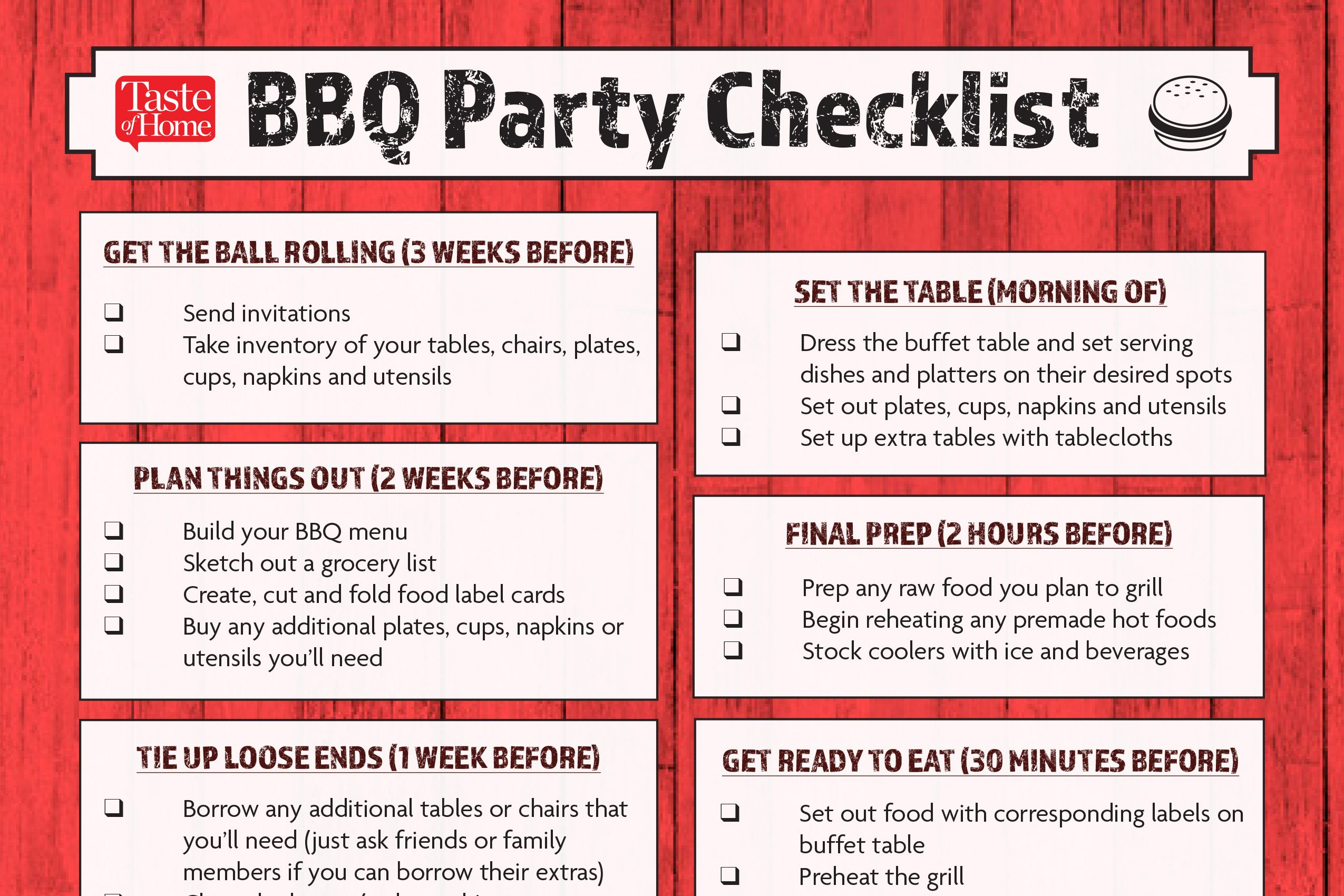 the best ever backyard party planning checklist taste of home