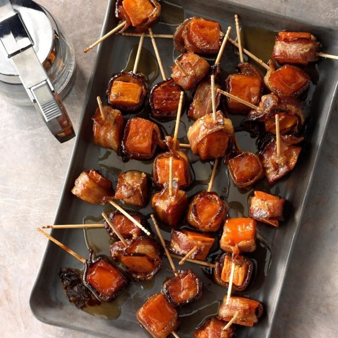 Bacon-Wrapped Sweet Potato Bites