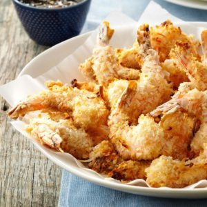 Air Fryer Coconut Shrimp and Apricot Sauce